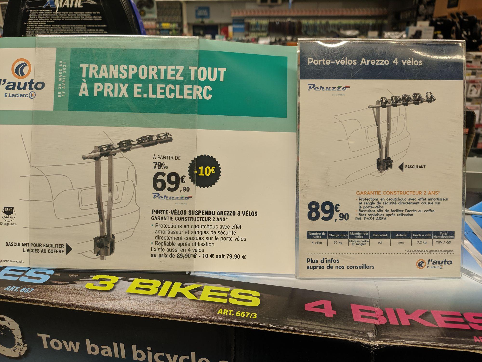 Porte vélos sur attelage Peruzzo - 3 Vélos (Saint-Médard-en-Jalles 33)