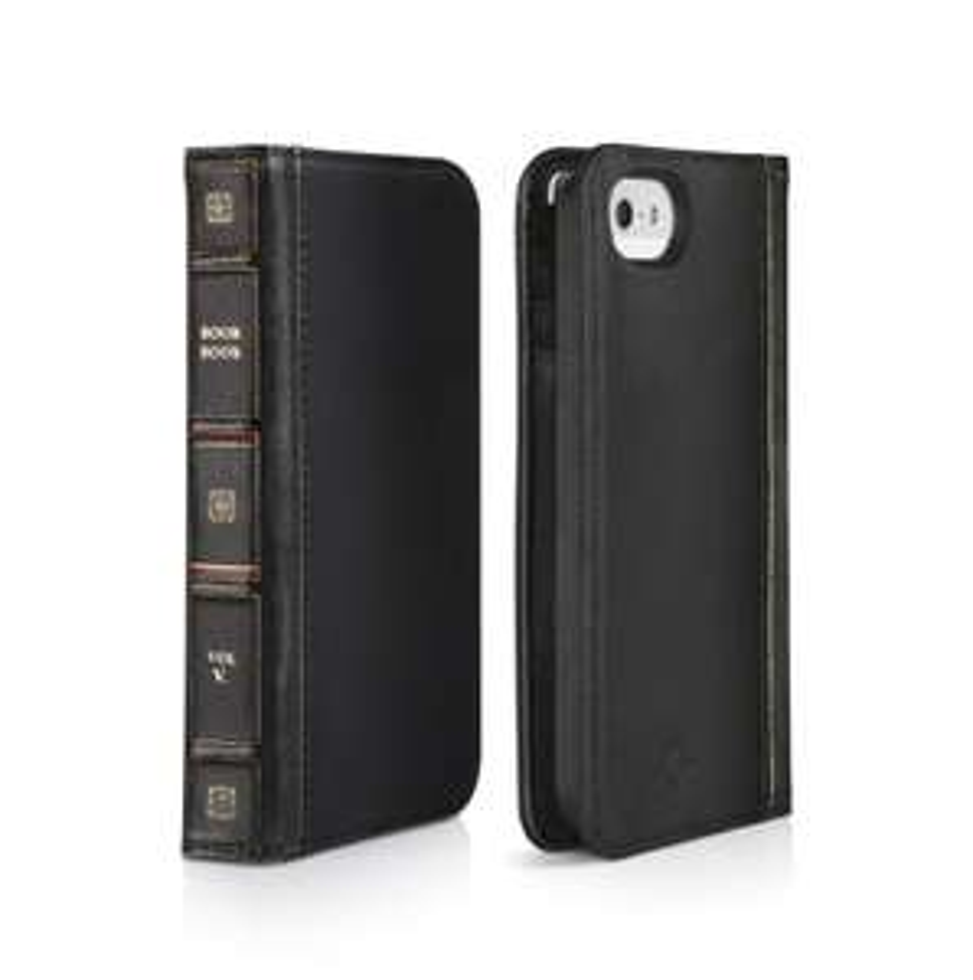 Etui portefeuille en cuir noir BookBook pour iPhone 5/5S/SE (Taxes et port compris)