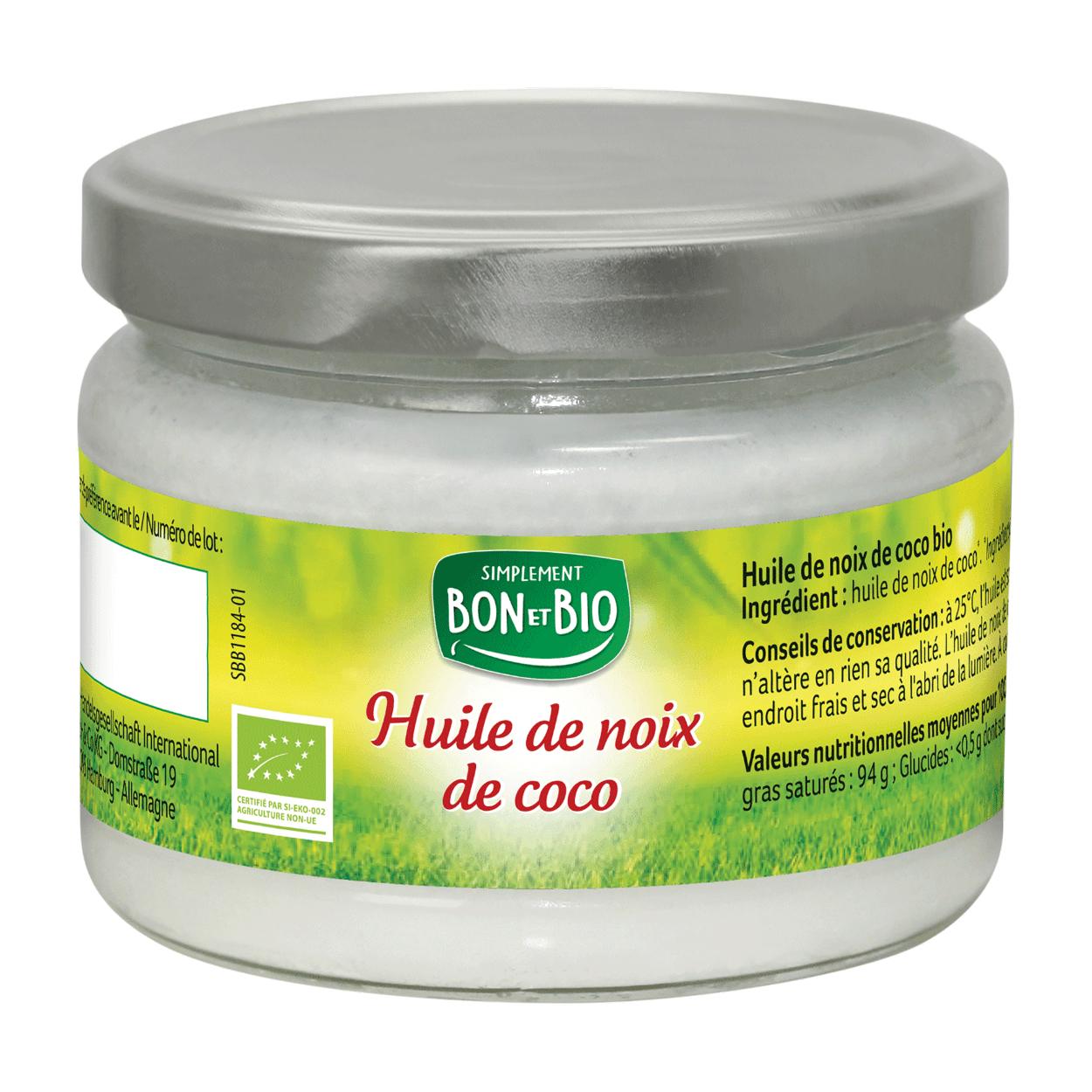Pot d'huile de noix de coco Bio (250ml)