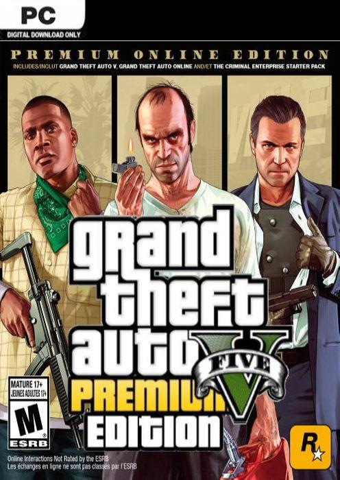 Jeu Grand theft auto V (GTA 5) sur PC - Premium online edition (Dématérialisé, Rockstar)