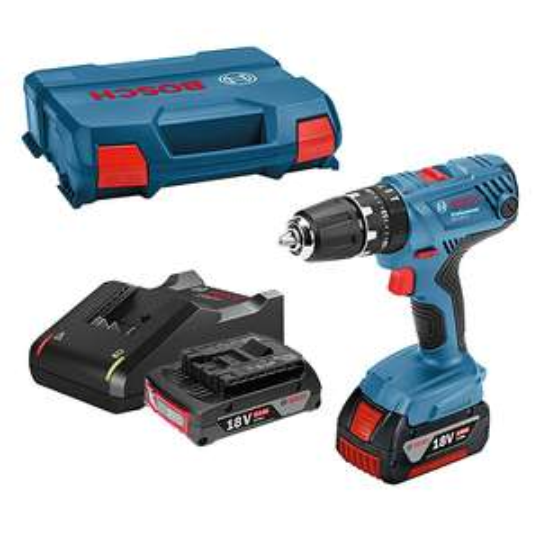 Perceuse visseuse sans fil Bosch Professional GSB 18V-21- deux batteries 2Ah et 4Ah