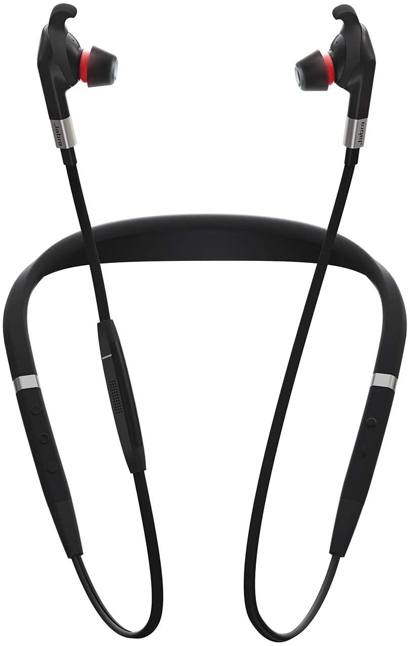 Écouteurs professionnels bluetooth Jabra Evolve 75e - Avec réduction de bruit passive, 3 microphones (Reconditionné à neuf - Garantie 2 ans)