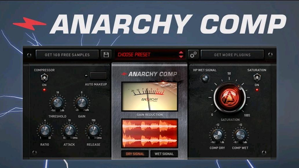 Plugin Anarchy Comp gratuit sur PC & Mac (Dématérialisé - VST/AU) - Anarchyaudioworx.com