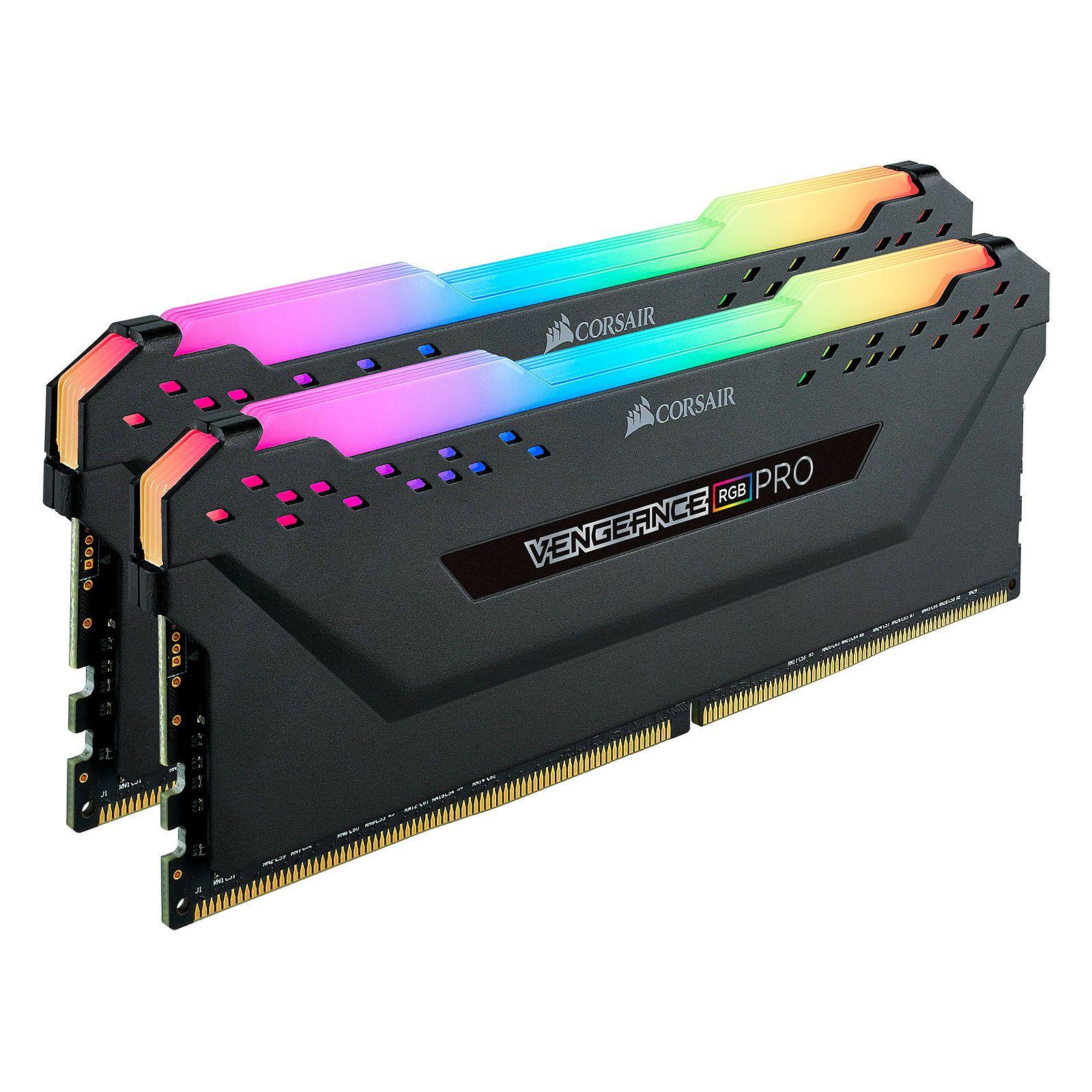 Kit Mémoire Corsair Vengeance RGB Pro - 32Go (2×16Go), 3200Mhz