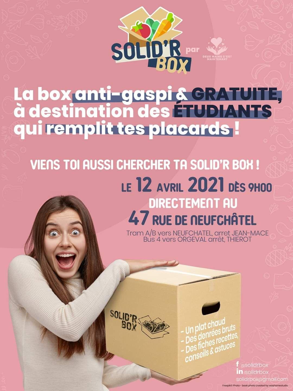 [Etudiants] Solid'R box offerte : 1 Plat chaud + Denrées alimentaires - Reims (51)