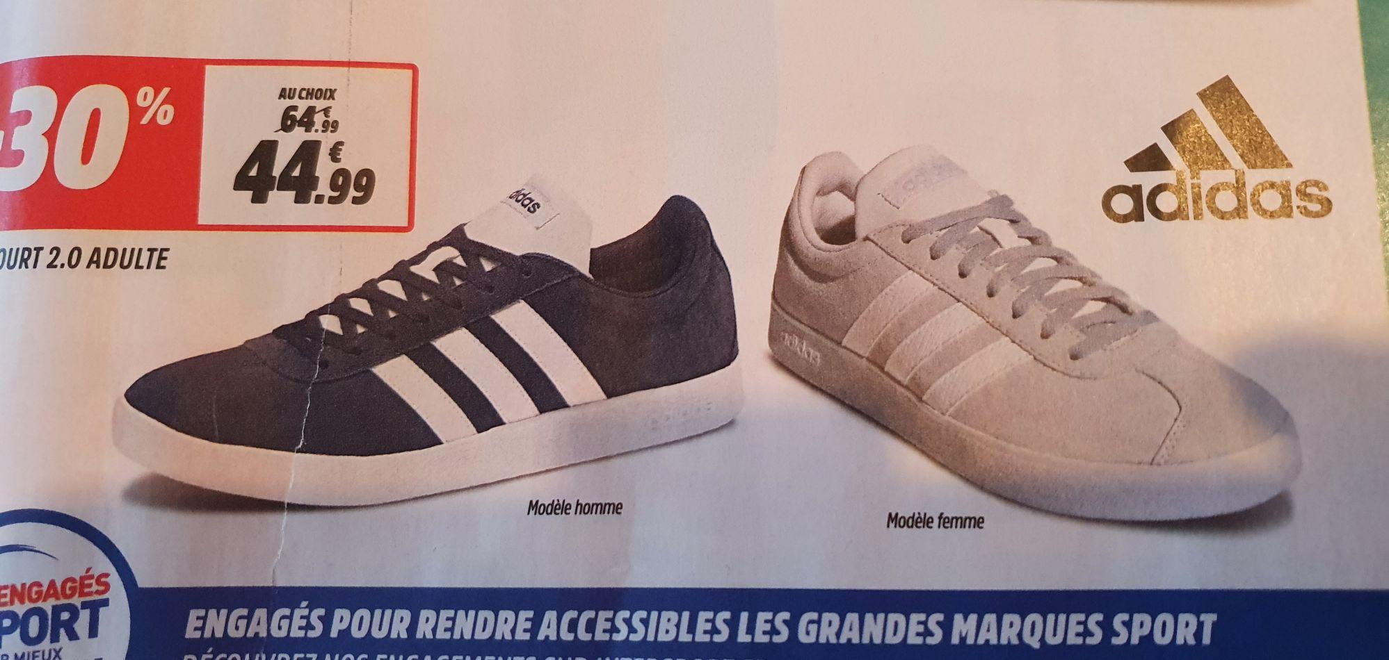 Paire de chaussures adidas Vl Court 2.0 pour Femme - Tailles 36 à 42