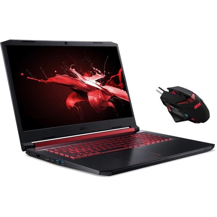 "PC Portable 17.3"" Acer Nitro AN517-51-51N8 - FHD 120 Hz, i5-8300H, 16 Go RAM, 512 Go SSD, GTX 1660 Ti, W10 + Souris filaire Nitro"