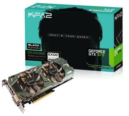 Carte graphique KFA2 GeForce GTX 970 EXOC Black Edition - 4 Go + Tom Clancy's The Division offert