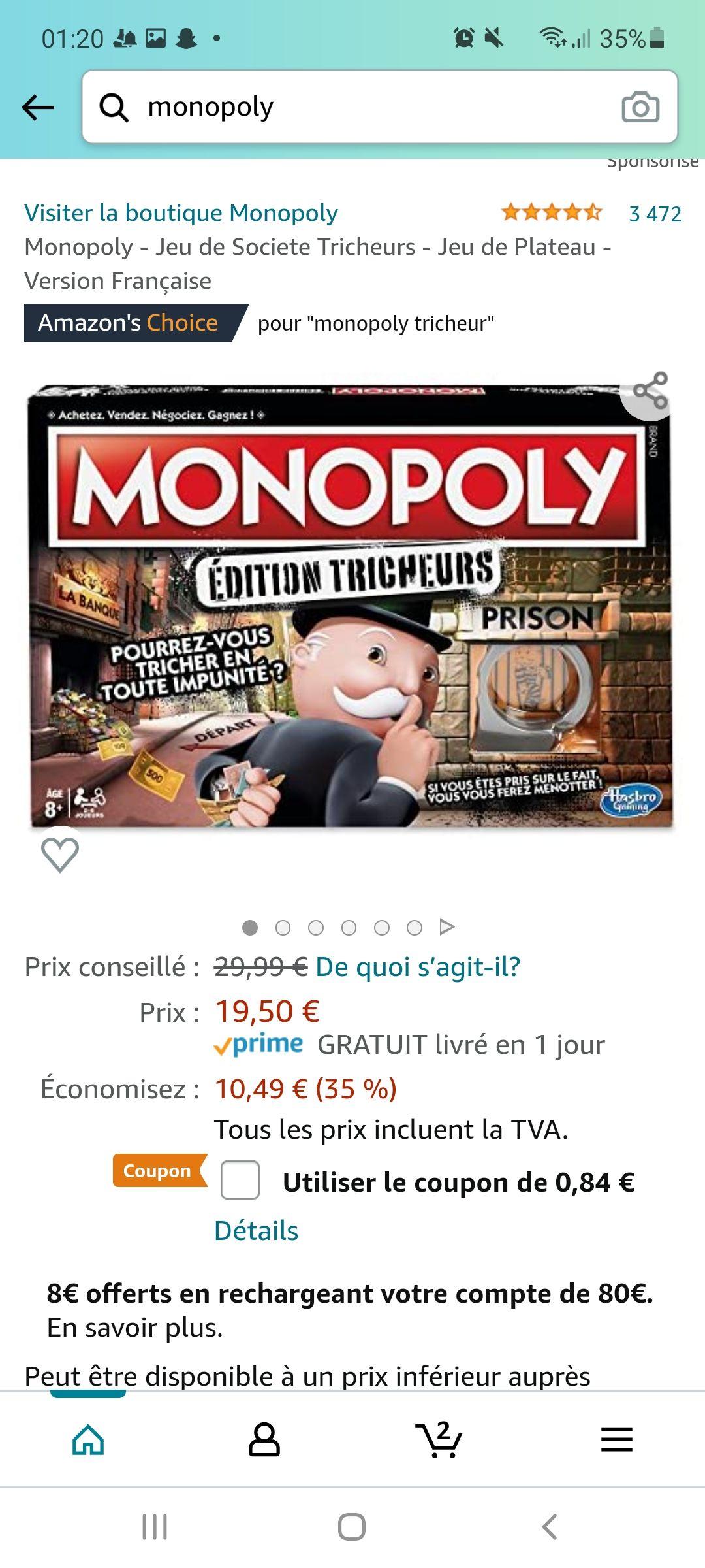 Jeu de société Hasbro Gaming - Monopoly Tricheurs