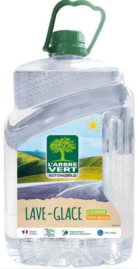 Bidon de 5 litres de liquide lave glace écologique été L'arbre Vert
