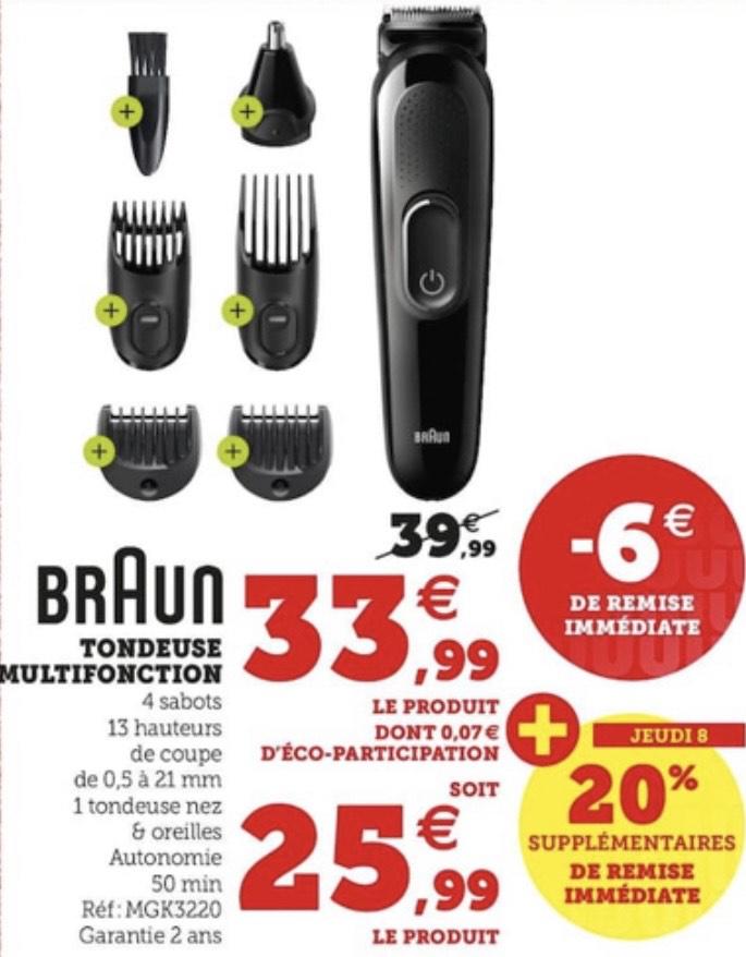 Tondeuse multifonctions Braun MGK3220 avec accessoires