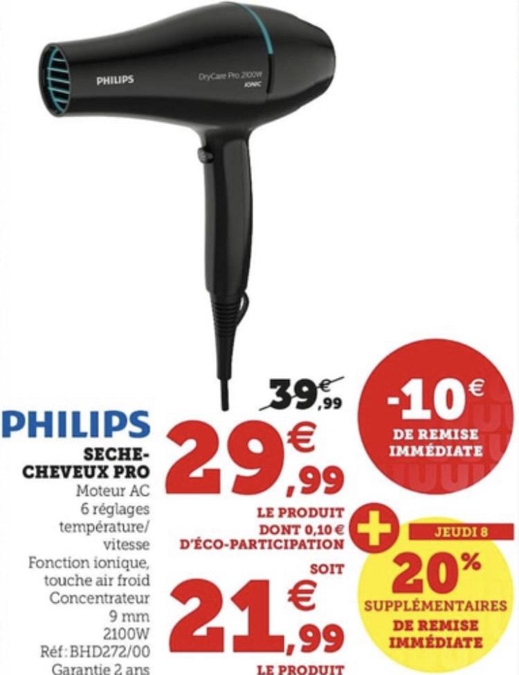 Sèche-cheveux Philips Drycare Pro BHD272/00