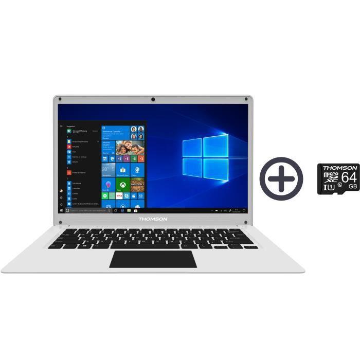 "PC Portable 14,1"" Thomson NEO14CWSP - HD, Celeron® N3350, RAM 4 Go, 64 Go eMMC + 64 Go Micro-SD, Windows 10S"