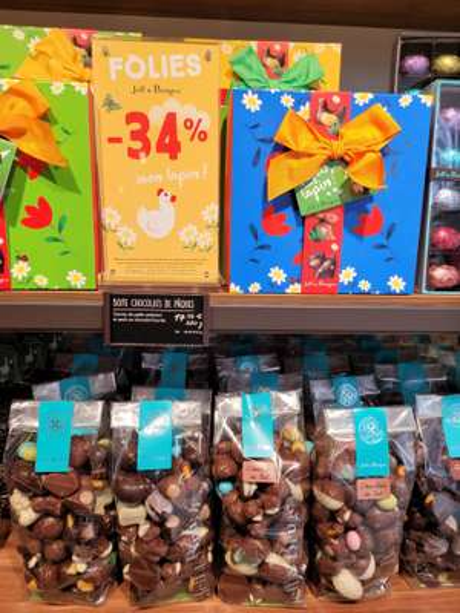 34% de réduction immédiate sur les chocolats de Pâques Jeff de Bruges - Ex : Sachet animaux (290g)