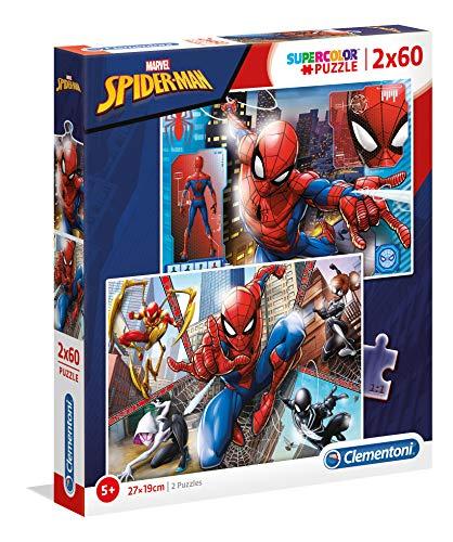 Puzzle Clementoni SpiderMan Supercolor (21608) - 2 x 60 pièces