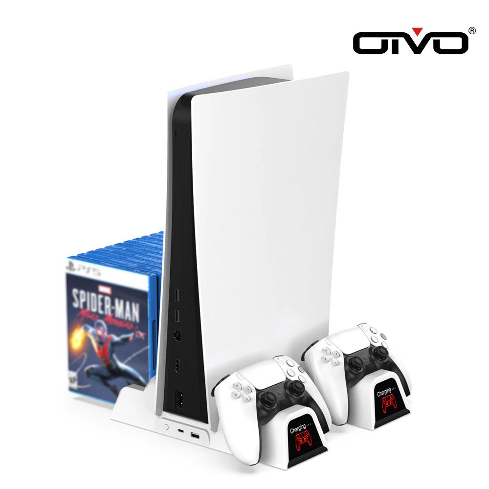 Support OIVO pour PS5 avec Chargeur pour 2 Manettes, Rangement jeux et Ventilateur