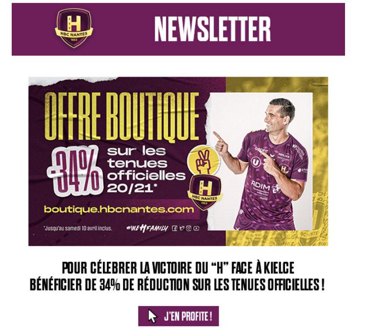 -34% sur les tenues officielles Hbc Nantes 20/21 (boutique.hbcnantes.com)