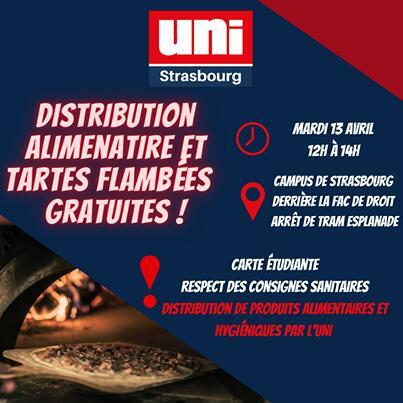 [Etudiants] distribution gratuite de tartes flambées - Strasbourg (67)