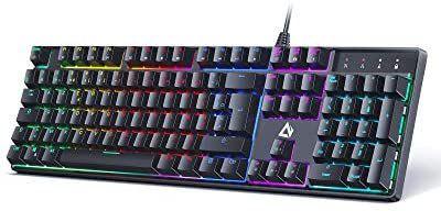 Clavier Gamer Mécanique Aukey avec Rétroéclairage LED - Blue Switches (Via Coupon - Vendeur Tiers)