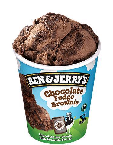 Pots de crème glacé Ben & Jerry's Fudge Brownie - 408gr