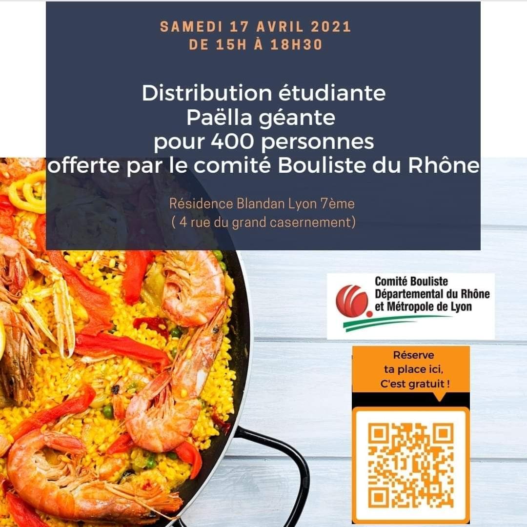 [Etudiants] Distribution gratuite de Paëlla et colis alimentaires - Lyon (69)