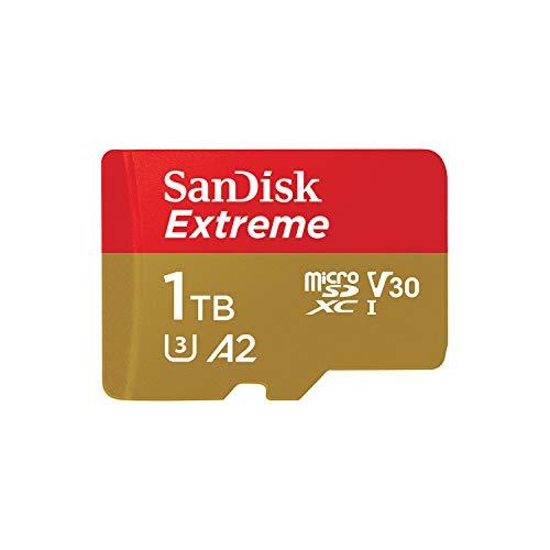 Carte Mémoire MicroSDXC SanDisk Extreme 1 To + Adaptateur SD jusqu'à 160 Mo/s, avec la Classe de Vitesse UHS 3 (U3), V30