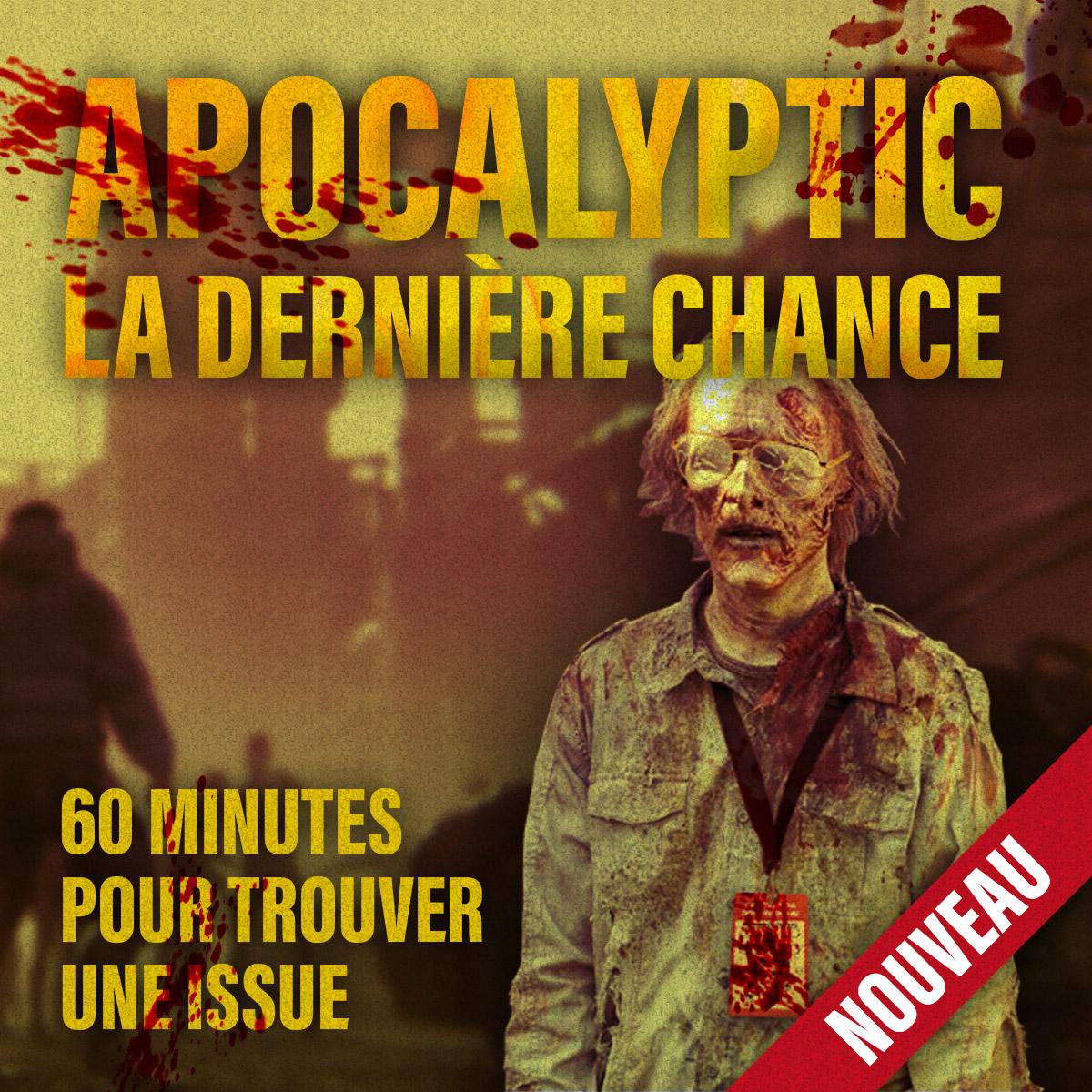 Sélection d'Escape Games en promotion - Ex : Apocalyptic La Dernière Chance (Dématérialisé) - adios-casa.com