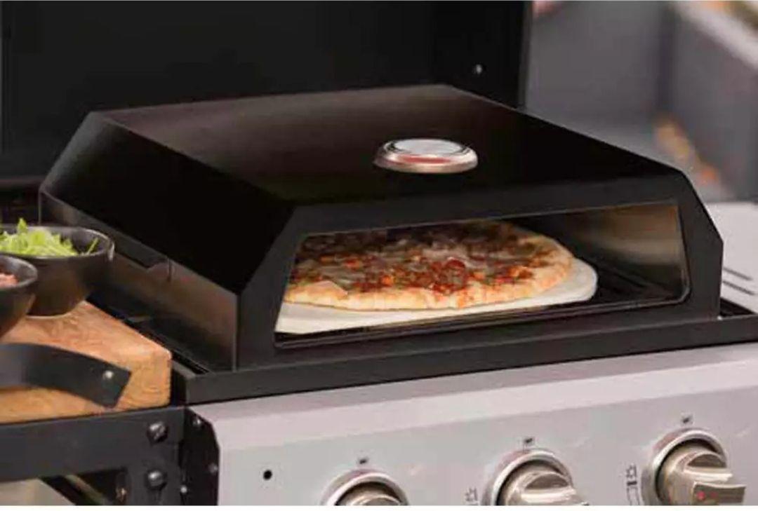 Four à pizza métal et pierre adaptable sur barbecue gaz ou charbon