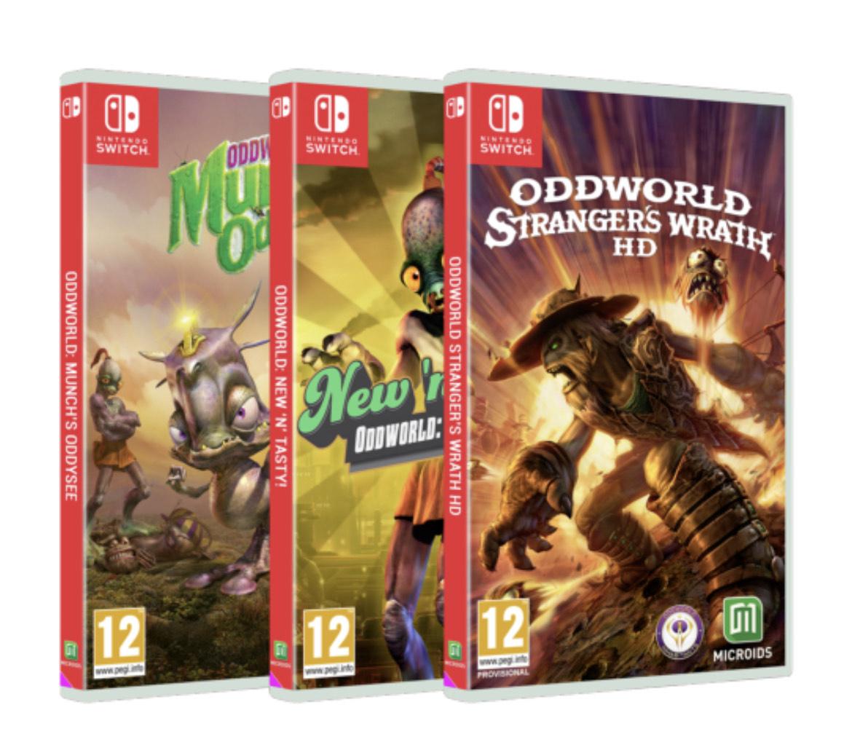 Pack Trilogie Oddworld Bundle sur Nintendo Switch
