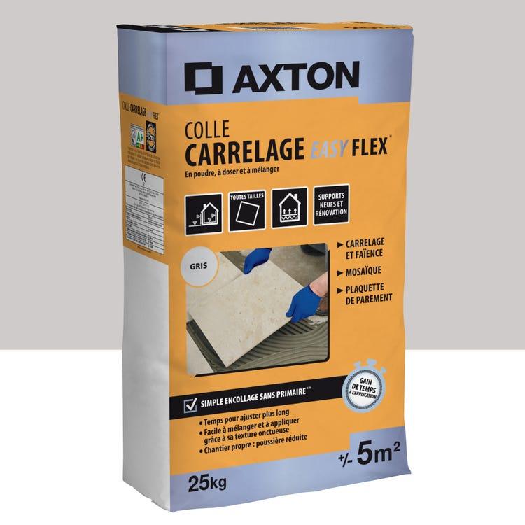 Mortier colle en poudre Axtoneasy flex - Gris, 25 kg, 5 m²
