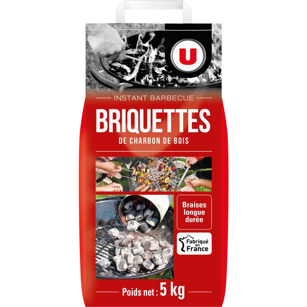 Briquettes charbon de bois U (charme / hêtre / chêne / frêne) - 5Kg