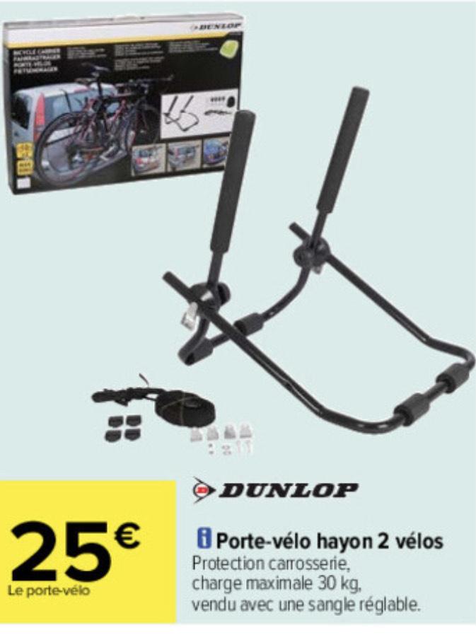 Porte Vélos hayon Dunlop - 2 vélos