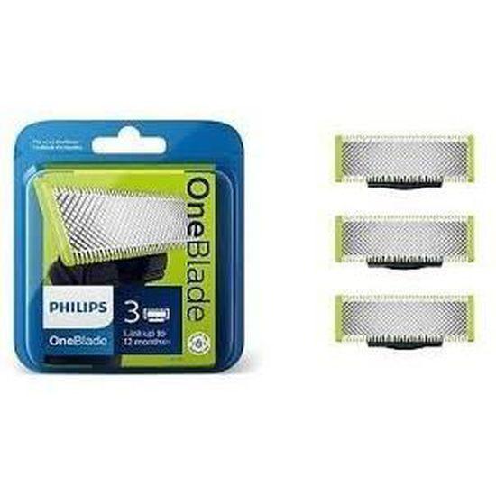 Lot de 3 Lames de remplacement pour rasoir Philips OneBlade