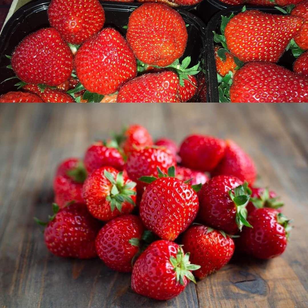 2 barquettes de 500 grammes de fraises - Les Halles Catalanes Argelès-sur-Mer (66)