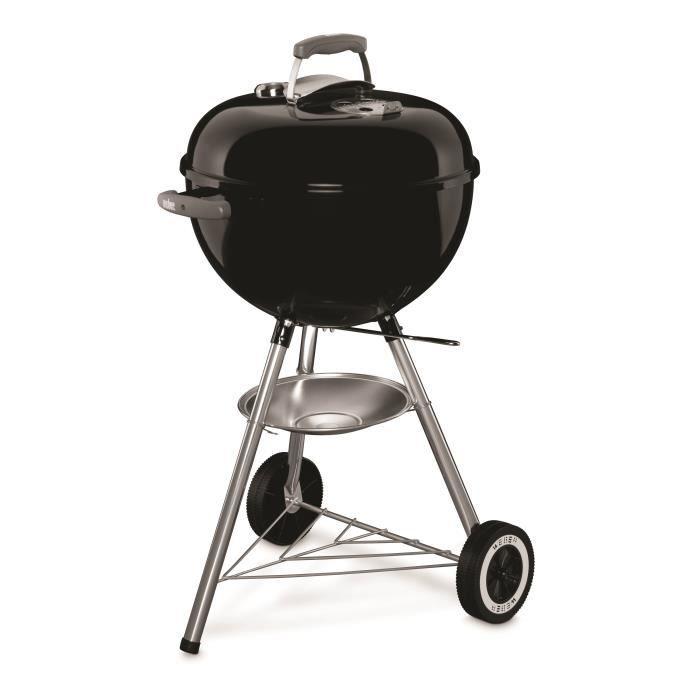 Barbecue à charbon WEBER Classic Kettle - 47 cm, thermomètre, Noir
