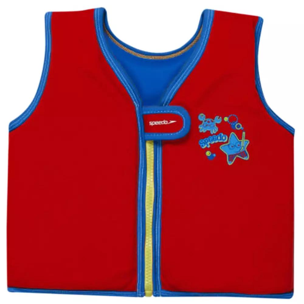 Veste de nage Speedo Sea Squad Swimvest IM - Rouge / Bleu, 4 à 6 ans