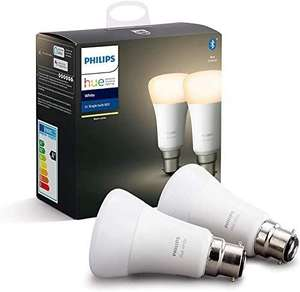 Lot de 2 ampoules connectées Philips Hue White B22 - Bluetooth
