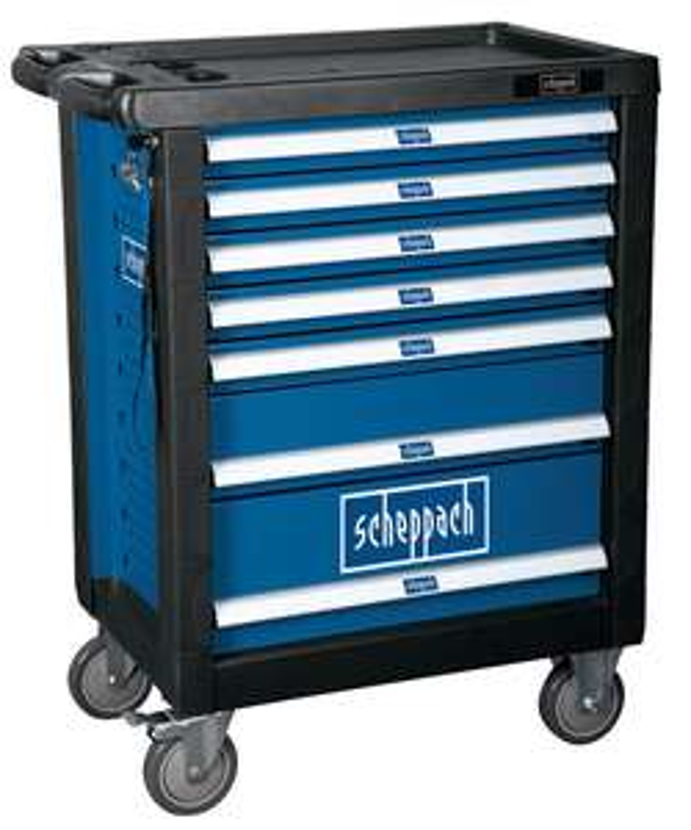 Servante d'atelier Scheppach TW1000 (5909304900 ) - 7 tiroirs, 263 pièces d'outils