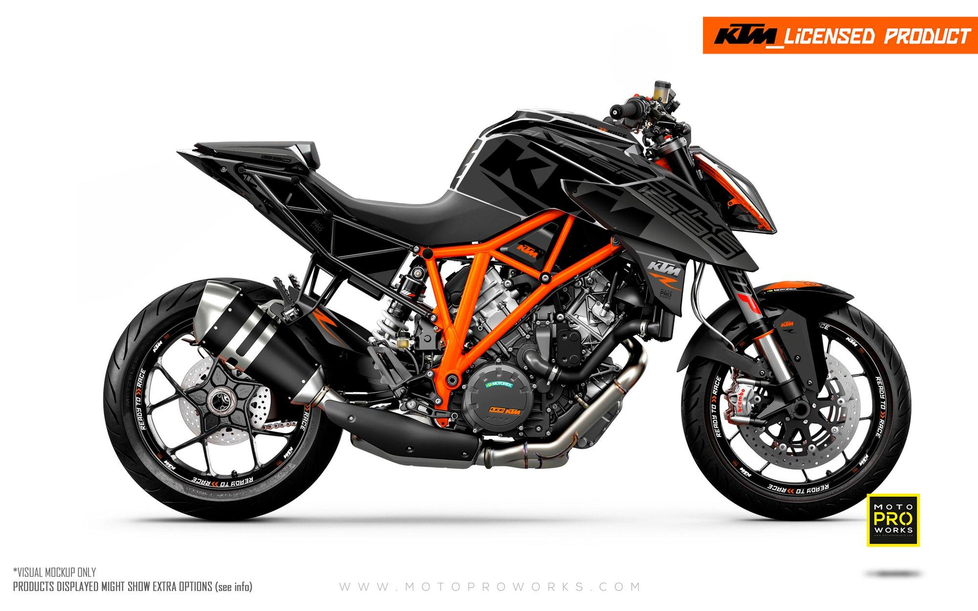Sélection de Kits décoratifs pour moto KTM en promotion - Ex : Kit pour KTM Super Duke R (motoproworks.com)