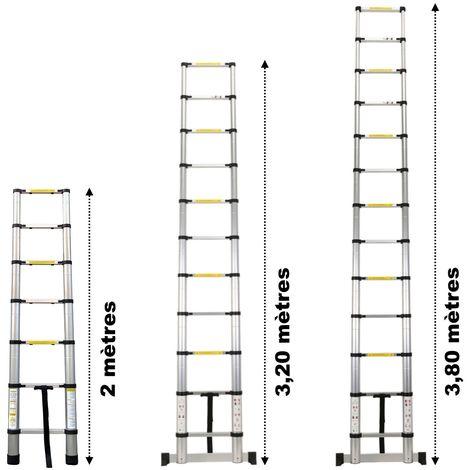 Echelle télescopique en Aluminium - 2m