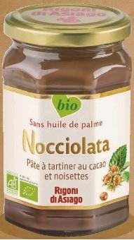 Pot de Pâte à Tartiner Nocciolata Rigoni di Asiago - 270g, bio sans huile de palme