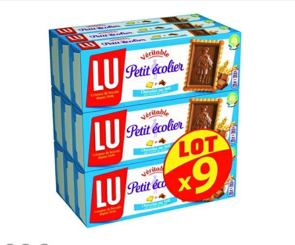 Lot de 9 Paquets de Biscuits Petit écolier Chocolat au lait - 9 X 150g