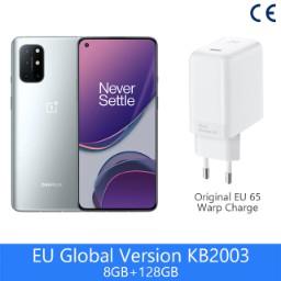 "Smartphone 6.55"" OnePlus 8T 5G - 128 Go, 8 Go ROM, Version globale (Entrepôt France)"