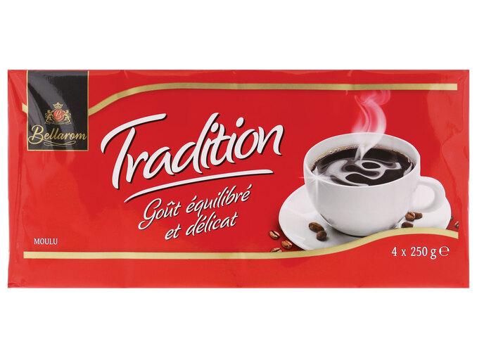 2 lots de 4 paquets de café moulu Bellarom Tradition - 8 x 250g