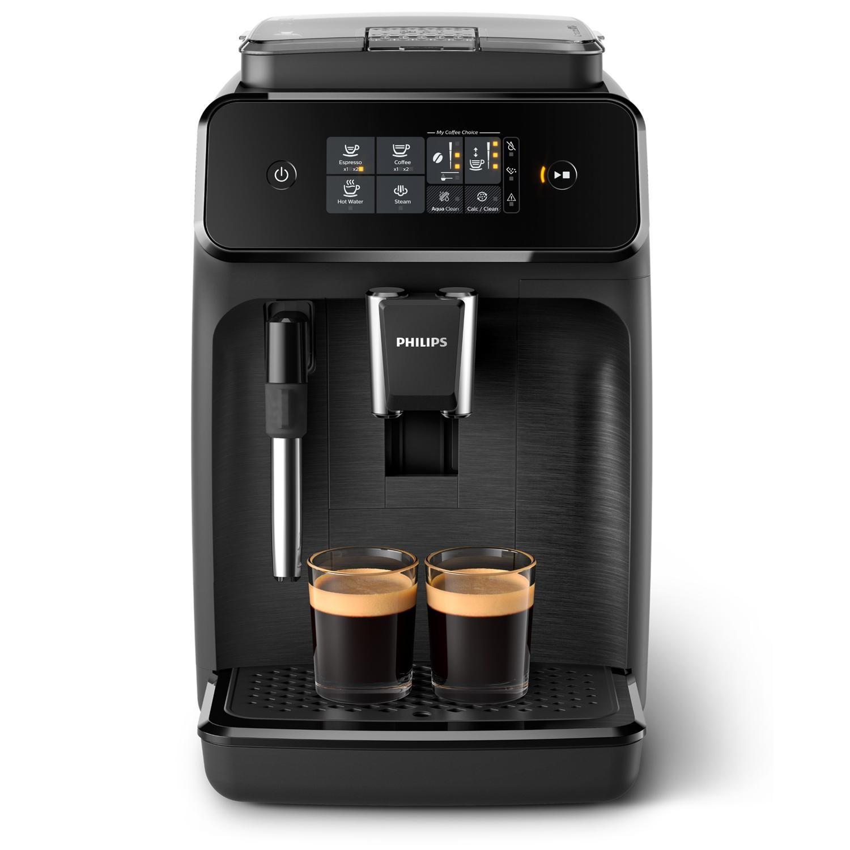 Machine à café Espresso Automatique Philips EP1220/00 - Broyeur Grains, Mousseur à lait intégré, Noir mat