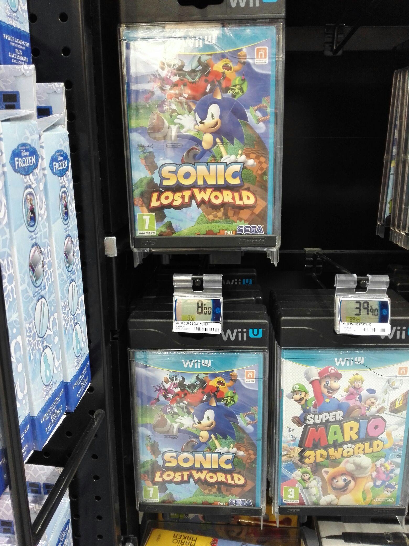 Sonic Lost World sur Nintendo Wii U