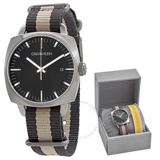 Coffret montre à Quartz Calvin Klein K9N111P1 - 39 mm, divers coloris (Frais d'importation et de douane inclus)
