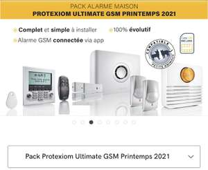 Pack Somfy Protexiom Ultimate GSM Printemps 2021