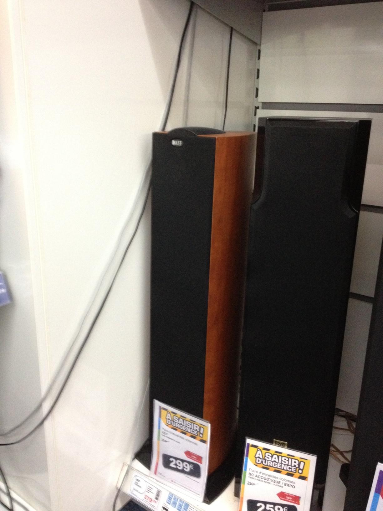 Enceintes colonne KEF iQ50 Pommier - La paire