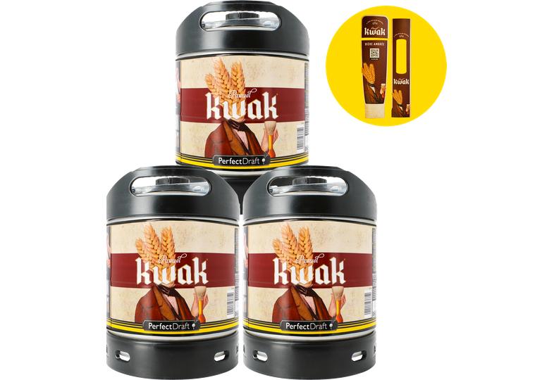Pack 3 fûts Kwak + 1 Maxi Magnet offert